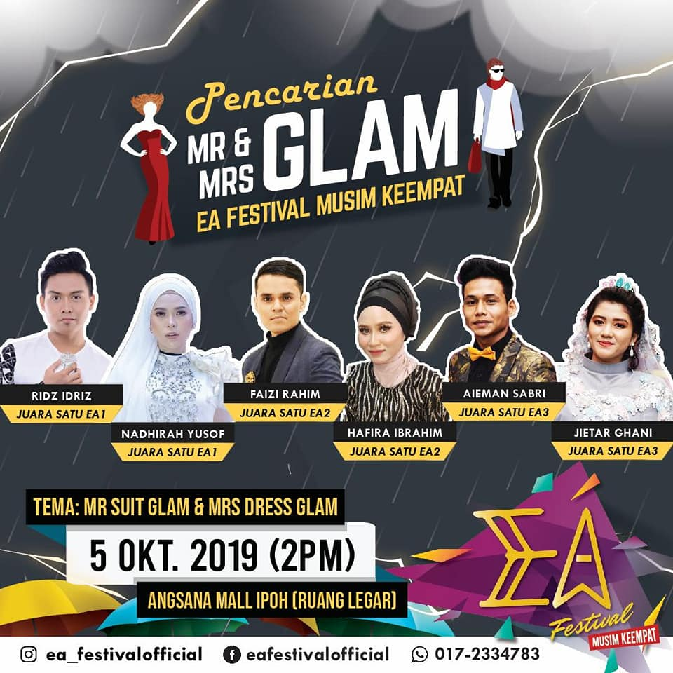 Oct 5, Pencarian Mr & Mrs Glam @ Angsana Ipoh Mall 1
